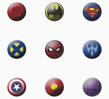 Hero Buttons Sticker Set #1 by NigelSpudCarrot