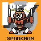 Spark Man with Black Text by Funkymunkey