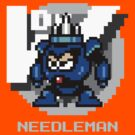 Needle Man with Ice Blue Text by Funkymunkey