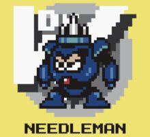 Needle Man with Black Text by Funkymunkey