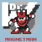 Magnet Man with Red Text by Funkymunkey