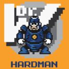 Hard Man with Blue Text by Funkymunkey
