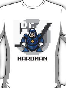 Hard Man with Black Text T-Shirt