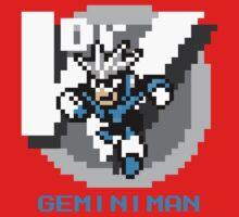 Gemini Man with Blue Text by Funkymunkey