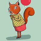 HAPPY BIRTHDAY SQUIRREL, BLUE by Jane Newland