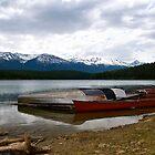 Canoes in Jasper, Alberta  by Jessica Karran