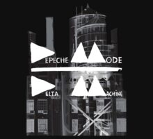 Depeche Mode : Delta Machine Paint cover - B&W Invert - water tower 2 by Luc Lambert