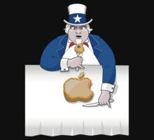 Uncle Sam eats Apple's pie by LaDozor