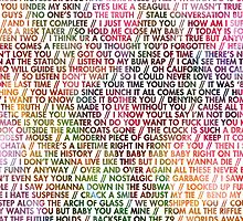 Vampire Weekend Lyrics Case by merched