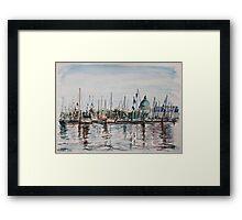 Boat Show Weekend Framed Print