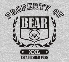 Athletic Property of Bear (for light shirts) by Bob Buel