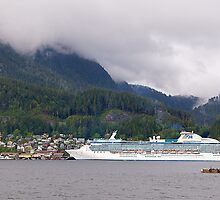 Coral Princess, Cruise Liner, Ketchikan, Alaska 2012. by johnrf