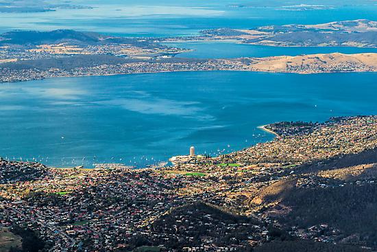 Hobart from Mt. Wellington, Tasmania by Elaine Teague