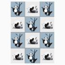 Pandas Checker - Blue by Adamzworld