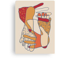 colorful foot and hand Canvas Print