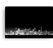 SF Skyline Black & White Canvas Print