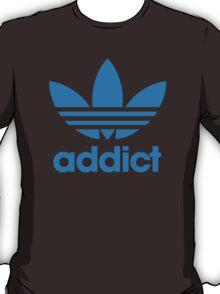 Addict Originals in Adidas Blue T-Shirt