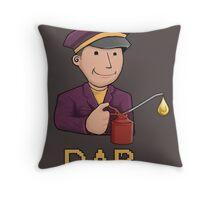Oil Man Throw Pillow