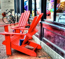 Red Chairs by Debbi Granruth