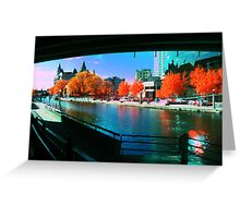 Funky Downtown Ottawa Infra-Red Evening  Greeting Card