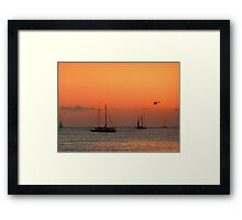 Hawaii helicopter Framed Print