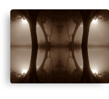 oriental tree reflection Canvas Print