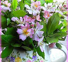 Wild Virginia Rose in Teakettle by TrendleEllwood