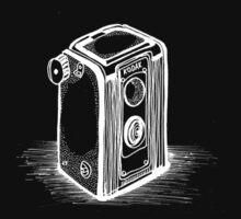 Vintage Kodak Camera White by Gabrielle Boucher