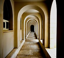 Endless corridor architecture abstract.  by PhotoStock-Isra