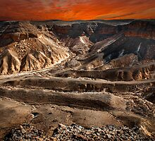Digitally manipulated image, Israel, Judaea Desert,  by PhotoStock-Isra