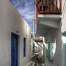 Mykonos Balcony by Tom Gomez