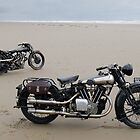 Brough Superior at Pendine Sands by Frank Kletschkus