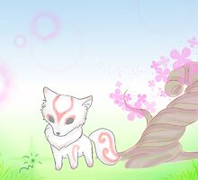 Okami and Issun by djfilup