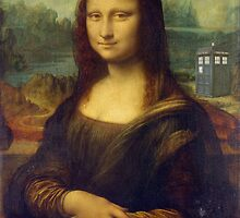 DaVinci's Mona Lisa Meets Doctor Who - TARDIS - Time Traveler - Mona Lisa and The Doctor by traciv
