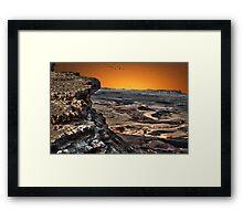 Ramon Crater, peak of Mount Negev in Israel Framed Print
