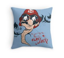 Fear and Loathing in the Mushroom Kingdom Throw Pillow