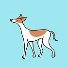 Proud Greyhound - brown and white by zoel
