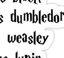Deceased Harry Potter Characters Sticker