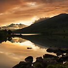 Sunset at Llynnau Mymbyr by Carlb40