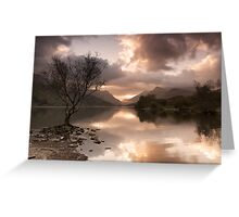 Sunrise over Llyn Padarn Greeting Card