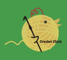 Crochet chick crochet hook ball of yarn funny t-shirt by BigMRanch