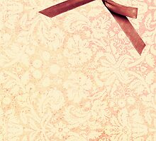 girly pink peach damask with bow by hellohappy