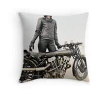 Brough Superior Racer on Pendine Sands Throw Pillow