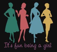It's fun being a girl retro dress pattern models by BigMRanch