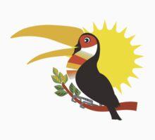tropical sun toucan bird Kids Clothes