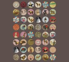 Vintage circus animals performers emblems by BigMRanch