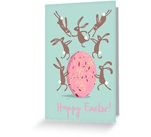 ACROBATIC EASTER BUNNIES Greeting Card