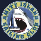 Amity Island Sailing Club (White border) by GritFX