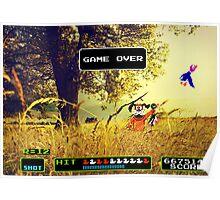 Duck Hunt pixel art Poster