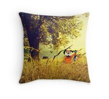 Nintendo Duck Hunt (no HUD) retro pixel art Throw Pillow